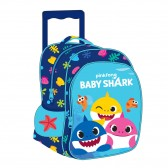 Sac à roulettes maternelle Baby Shark Pinkfong 30 CM - Cartable