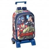 Sac à dos à roulettes Avengers 43 CM Crystal trolley Haut de Gamme - Cartable