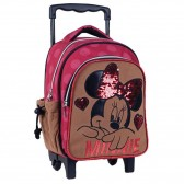 Minnie Suede 31 CM Maternal Wheeled Backpack