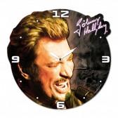 Horloge en bois Johnny Hallyday Visage