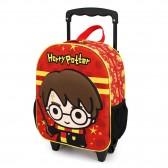 Sac à dos à roulettes Harry Potter 3D Baguette 34 CM Maternelle
