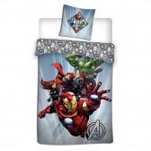 Parure housse de couette Avengers 140x200 cm et Taie d'oreiller