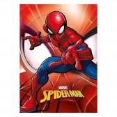 Polplaid Spiderman Rot 140x100