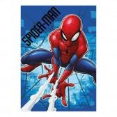 Plaid polaire Spiderman Bleu 140x100cm - Couverture