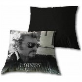 Coussin Johnny Hallyday Lunettes 40 CM