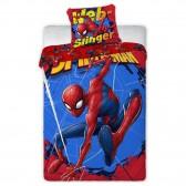 Parure housse de couette Spiderman Action 140x200 cm avec Taie d'oreiller