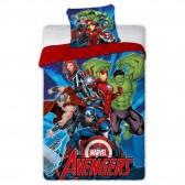 Parure housse de couette microfibre Avengers 140x200 cm et Taie d'oreiller