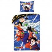 Parure housse de couette coton Dragon Ball Goku 140x200 cm et Taie d'oreiller