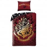 Parure housse de couette coton Harry Potter Hogwarts 140x200 cm avec Taie d'oreiller