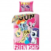 My Little Pony 140x200 cm cotton duvet cover and pillow taie