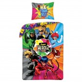Ladybug Miraculous Heros 140x200 cm cotton duvet cover and pillow taie