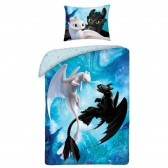 Dragons 140x200 cm cotton duvet cover and pillow taie