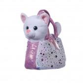 Peluche Chat dans son petit sac