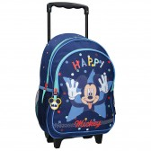 Sac à dos à roulettes Mickey Mouse 38 CM Cartable Trolley