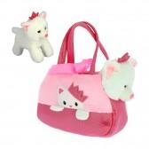 Peluche chaton princesse dans son sac