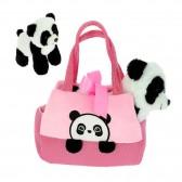 Peluche Bébé Panda dans son sac