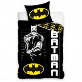 Parure housse de couette coton Batman Knight 140x200 cm avec Taie d'oreiller
