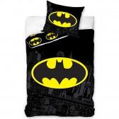 Parure housse de couette coton Batman Black 140x200 cm avec Taie d'oreiller