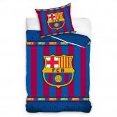 Parure housse de couette coton FC Barcelone Stripes 140x200 cm et Taie d'oreiller