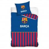Parure housse de couette coton FC Barcelone 140x200 cm et Taie d'oreiller FCB