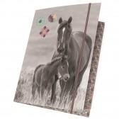 Elastisches Hemd A4 Pferd Flower 32 cm