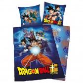 Baumwoll-Bettbezug Dragon Ball Goku 140x200 cm und Kissenbezug
