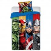 Parure housse de couette Avengers Heroes 140x200 cm et Taie d'oreiller
