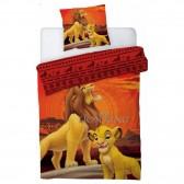 Parure housse de couette Le Roi Lion 140x200 cm et Taie d'oreiller