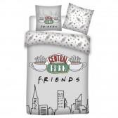 Parure housse de couette Friends Central Park 140x200 cm et Taie d'oreiller