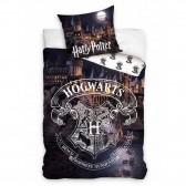 Baumwoll-Bettbezug Harry Potter Hogwarts Blue 140x200 cm mit Kissenbezug