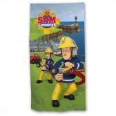 Serviette drap de bain Sam le pompier 140 x 70 cm