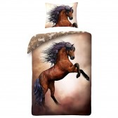 Horse Rose duvet cover 140x200 cm and pillow taie