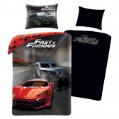 Hot Wheels 140x200 cm cotton duvet cover and pillow taie