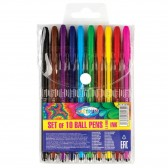 Lot of 10 colored ballpoint pens - Point 0.7mm