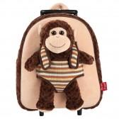 Sac à dos à roulettes maternelle Animal Peluche 32 CM - Trolley