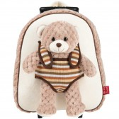 Animal Peluche 25 CM Maternal Backpack - Reversible
