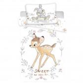 Bambi Circle 140x200 cm cubierta de edredón de algodón y taie almohada