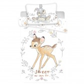 Bambi Circle 140x200 cm cotton duvet cover and pillow taie