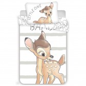 Bambi Sweet 100x135 cm cotton duvet cover and pillow taie