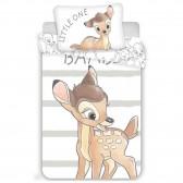 Bambi Dulce 100x135 cm cubierta de edredón de algodón y taie almohada