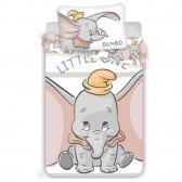 Parure housse de couette coton Dumbo Little One 100x135 cm et Taie d'oreiller