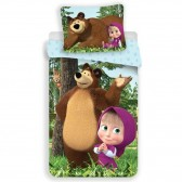 Rapunzel cotton duvet cover 140x200 cm and pillow taie