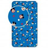 Drap housse coton Mickey 1 personne 90x200 cm