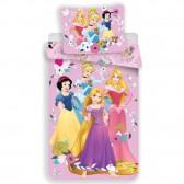 Parure housse de couette coton Princesses Disney 140x200 cm et Taie d'oreiller