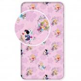 Drap housse coton Princesses Disney 1 personne 90x200 cm