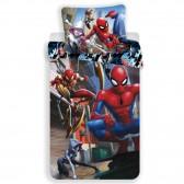 Parure housse de couette coton Spiderman Action 140x200 cm et Taie d'oreiller