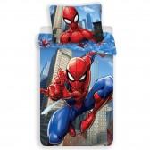 Spiderman Action 140x200 cm cubierta de edredón de algodón y taie almohada