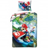 Mario 140x200 cm cotton duvet cover and pillow taie