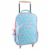 Sky Blue Bag flamingo Pink 38CM