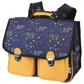 Cartable Ours Constellation Bleu et Jaune 38 CM Haut de Gamme